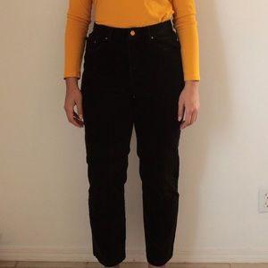 Ralph Lauren Black Corduroy Jeans w/Gold Hardware
